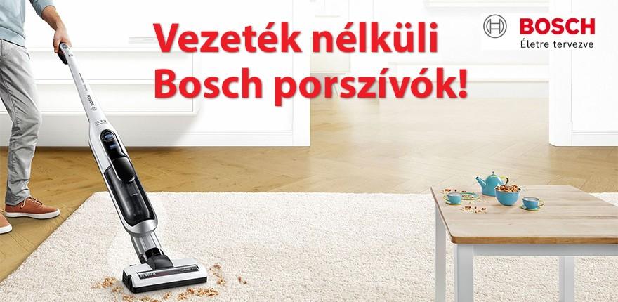 Vezeték nélküli Bosch porszívók!